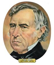 Vtg President Zachary Taylor Die Cut Face Paper Wall Decoration New Old Stock