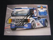 Card Alain Ferté (FRA) DAF Fina Racing Team Euro FIA Truck Cup 1997 (MBC) signed