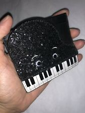 KATE SPADE JAZZ THINGS UP PIANO CARD HOLDER, WALLET, GLITTER