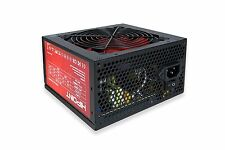 550W PSU BLACK & RED ATX PC POWER SUPPLY 24 PIN / MOLEX / SATA 500 WATT 12CM FAN