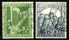 Berlin 1950 Berlin Philharmonic Orchestra Semi-Postals Scott's 9NB4 to 9NB5