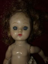 Vintage American Hard Plastic Baby Doll With Jointed Legs & Arms Circa 1940