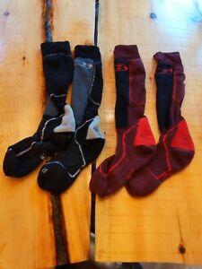 Icebreaker Merino Men's Ski Over The Calf Socks, Merino wool large