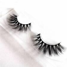 2Pcs 3D Mink Natural Thick False Fake Eyelashes Handmade Lashes Makeup Extension