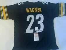 Mike Wagner Autographed Pittsburgh Steelers Black Jersey '4x SB CHAMPS' JSA COA