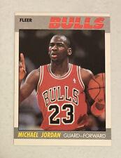 Michael Jordan 1987-88 Fleer #59 2nd Year Card Chicago Bulls (dh)