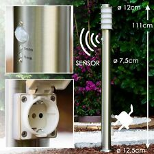 Lampadaire de jardin Lampe d'extérieur avec prise de courant Détecteur 147287