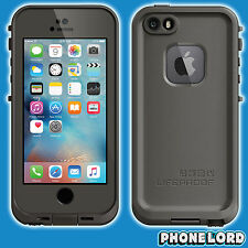 Genuine Lifeproof iPhone SE 5 5S Frē Fre case cover waterproof tough Grind Grey