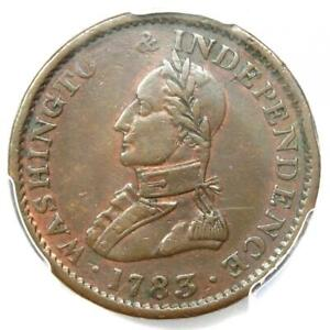 1783 Washington Military Large Bust Coin - Certified PCGS AU50 - $550 Value!