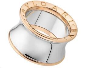 Bvlgari B Zero1 Ring 18K Rose Gold SS By Anish Kapoor Size 53 Inc Store Receipt