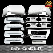 2015 Ford F-150 F150 4Drs W/O Pskh+Base Plate+Mirror+Tailgate Abs Chrome Covers