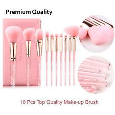 ZOREYA Make-up Brush Set 10 Pcs MakeUp Brushes With Diamond Handle & Leather bag