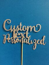 Custom Cake Topper With Choice Of Phrase, Title, Funny, Personalized Cake Topper