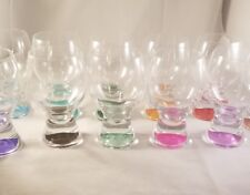 Highball Assorted Color Glasses Set of 11 Drinking Glasses Each Different Color