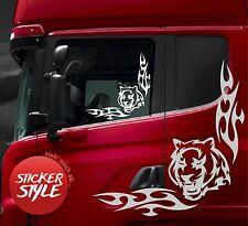 LKW Tiger Scheibendekor Aufkleber Truck für SCANIA MAN Mercedes Iveco DAF Volvo