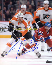 ZAC RINALDO Dumps PUCK Into Zone AUTO Signed 8x10 Photo PHILADELPHIA FLYERS WoW