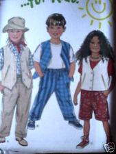 6370 Vintage NEW LOOK SEWING Pattern Childs Vest Pants Shorts UNCUT 3 - 8 OOP FF
