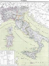 🎄🕯WEIHNACHTEN🎄🕯 Echte 157 Jahre alte Landkarte KÖNIGREICH ITALIEN 1861