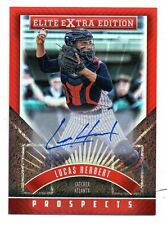 2015 PANINI ELITE EXTRA EDITION PROSECTS LUCAS HERBERT BRAVES AUTOGRAPH CARD #55