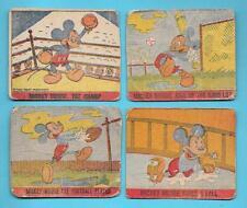 VINTAGE 1930 R161 MICKEY MOUSE DISNEY CARD LOT BASEBALL FOOTBALL BOXING HAND CUT