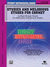 """STUDIES AND MELODIOUS ETUDES FOR CORNET"" LEVEL 3 TRUMPET MUSIC BOOK-NEW ON SALE"