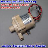 Mini Brushless Motor Submersible Circulation Pump DC 24V Solar Hot Water Pump