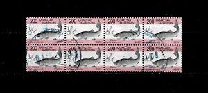 11610- Khazakhstan, block of 8 . Fishes, animals, Salmon, issue 2020