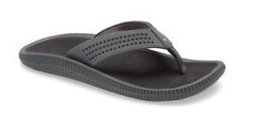Olukai Ulele Dark Shadow/Black Comfort Flip Flop Sandal Men's US sizes 7-15 NEW!