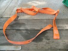 "4 Orange Car Carrier Tire holder Wheel 2"" Straps (with 1 loop + 1 Open end each)"