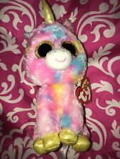 """New Beanie Boos Ty """"Fantasia"""" Unicorn Plush With Tags 6 Inches Tall"""