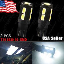 2PCS Xenon White T10 168 192 906 Side Wedge 5630 10SMD LED Backup Light