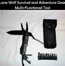 Multi-Functional Tool with 20 Tools, Locking Knife & Sheath. Ships from USA!!