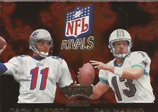 DREW BLEDSOE & DAN MARINO 1998 Playoff Momentum NFL Rivals