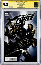 UNCANNY X-FORCE #1 1:25 RETAILER E VARIANT SIGNED BY CLAYTON CRAIN CGC 9.8 2010