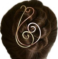 Spiral Hair Stick Decorative Chignon Bun Holder Brass Hair Slide Women Gift