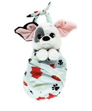 "Baby Patch Dalmations Plush with Blanket Pouch 10"" Babies Disney Theme Parks NEW"