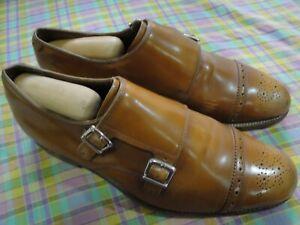 Grenson England Leather Dress Shoes Ellery US 8 UK 7 EUR 41 Monk Strap Men