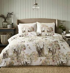 Voyage Maison Winter Wilderness Duvet Cover Set Sepia in 100% Cotton Sateen