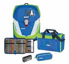 Scout Safety Sunny II Set 4-teilig Schulranzen Tasche Blue Space Blau