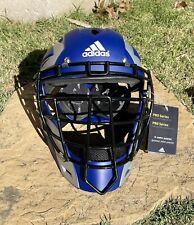 55 Adidas Pro Series Catcher's Helmet 2.0 AZ3813 Blue Sz LARGE / XL   NWT