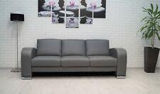 Echtleder 3 er Sofa 205 cm 100% Echt Leder Couch viele farben erhältlich