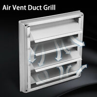Home Stainless Steel Square Wall Air Vent Duct Grill Tumble Dryer Extractor Fan