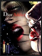 2001 Fabulous DIOR ADDICT Lipstick Cosmetics Make-up PRINT AD