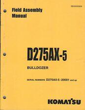 Equipment Manual - Komatsu - D275Ax-5 Bulldozer - Field Assembly - 2002 (E4288)