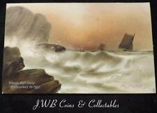 Old Postcard of Of Painting by W.Morris Waves That Sway Themselves To Rest 1910