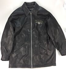 PELLE PELLE Black Leather Silver Studded Jacket Size 40 Men's Marc Buchanan Full