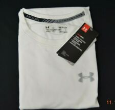 Under Amour Men's Running Threadborne Short Sleeve T-Shirt  White Size 2XL