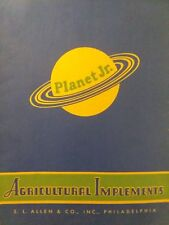 Planet jr. S.L ALLEN Farm Seeder 1944 Cultivator Tractor Sales Brochure Catalog