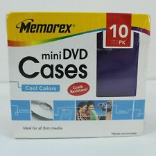 Memorex Mini DVD Cases - 10 Pack with 5 Colours NEW SEALED