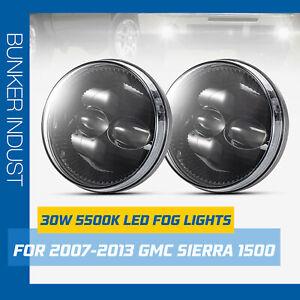 BUNKER INDUST LED Fog Lights for 2007-2013 GMC Sierra 1500/2007-2014 Sierra